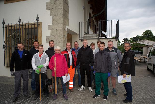 Team Gemeindestände-Aufbau